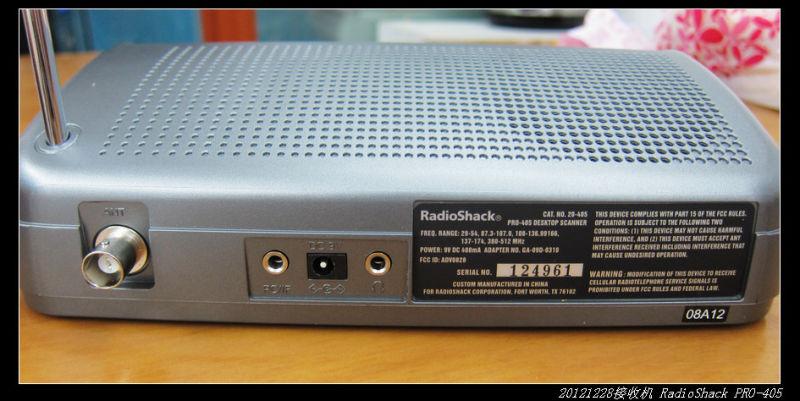 20121229宽频收音机RadioShack PRO 405 05 - 20121229宽频收音机RadioShack PRO-405