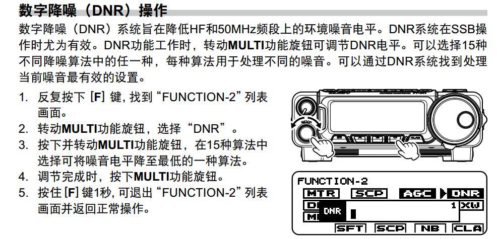 DNR数字降噪 - Yaesu新机FT-891 酱油师尝鲜试用