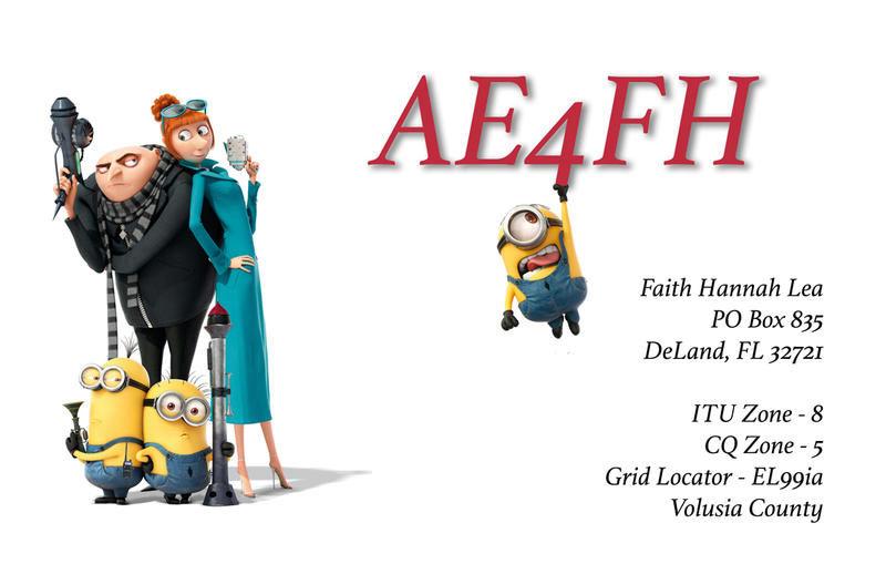 04 AE4FH的QSL卡 - 少年Ham姐妹花