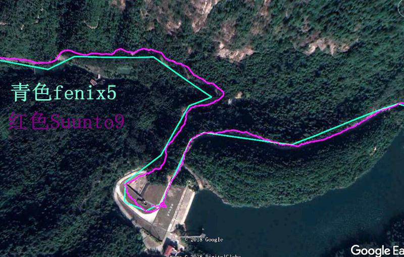 长江水库1 - Suunto 9 Baro与 Fenix 5 对比测评