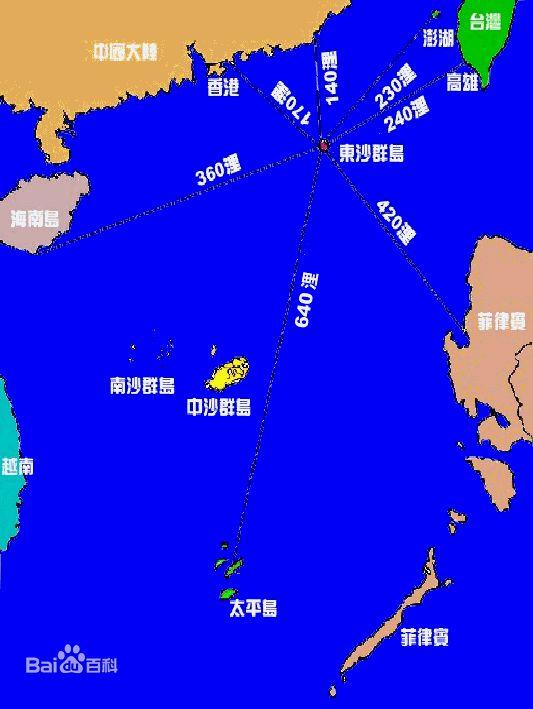 13第六名 东沙群岛 位置图 - 最受需求的呼号实体